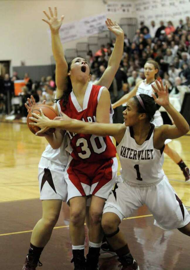 Tamarac's Briana Matazinsky drives to the basket during their Section II Class B girls' basketball title game against Watervliet in Stillwater,N.Y. March 6,2011 ( Michael P. Farrell/Times Union ) Photo: Michael P. Farrell