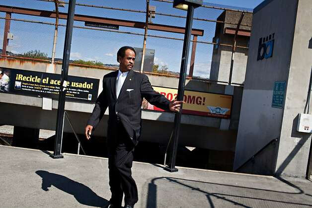 Oakland City Councilman Larry Reid is pushing a plan to put in hotels, a conference center and retail around the Coliseum in Oakland, Calif., March 6, 2012. Here Reid at the Coliseum BART station.    Jason Henry/Special to The Chronicle Photo: Jason Henry, Special To The Chronicle
