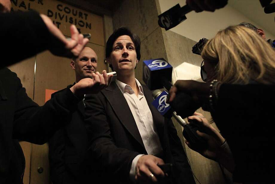Defense attorney Lidia Stiglich speaks with the media outside of Department 15 at the Hall of Justice on Tuesday, March 6, 2012 in San Francisco, Calif. Photo: Lea Suzuki, The Chronicle