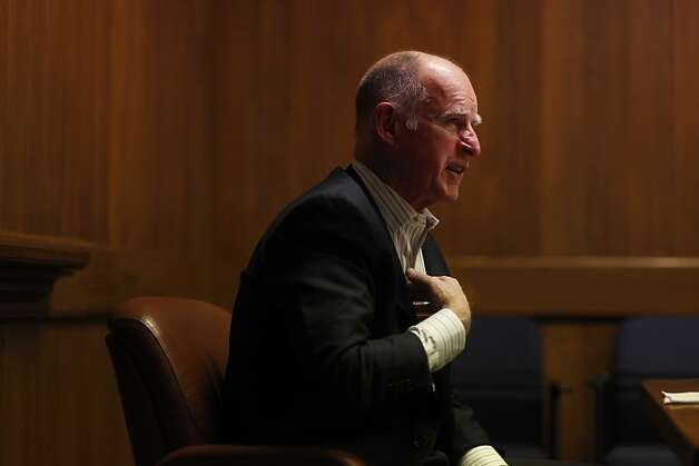 Gov. Jerry Brown has a conversation with the San Francisco Chronicle writers and editors in the Publisher's conference room, Tuesday, March 6, 2012. Photo: Judy Walgren, The Chronicle