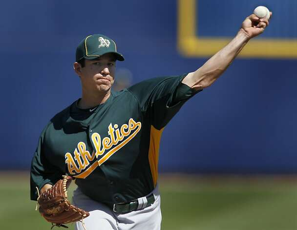 Tommy Milone was the starting pitcher for Oakland in the A's Cactus League spring training game against the Milwaukee Brewers in Phoenix, Ariz. on Tuesday, March 6, 2012. Photo: Paul Chinn, The Chronicle