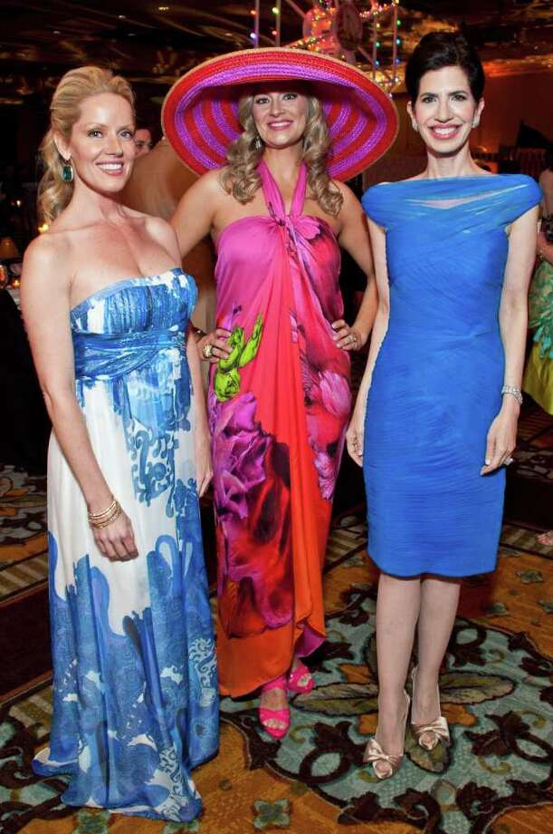 "Melissa Edwards, left, Rachel Regan and Dr. Kelli Cohen Fein, event chairs at the ""Under the Boardwalk"" gala Photo: Michelle Watson"