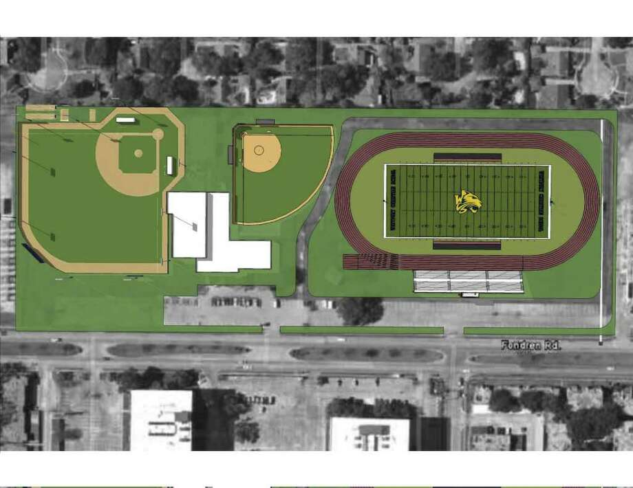 Westbury Christian School's athletic complex will have ballfields and a stadium. / handout