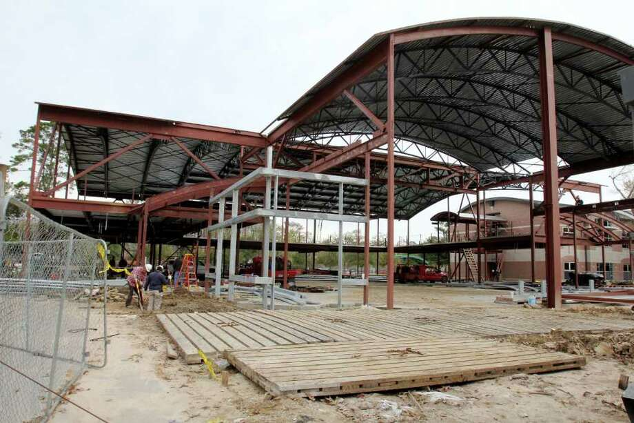 The planned center at Regis School of Sacred Heart is targeted for completion in August. Photo: Suzanne Rehak