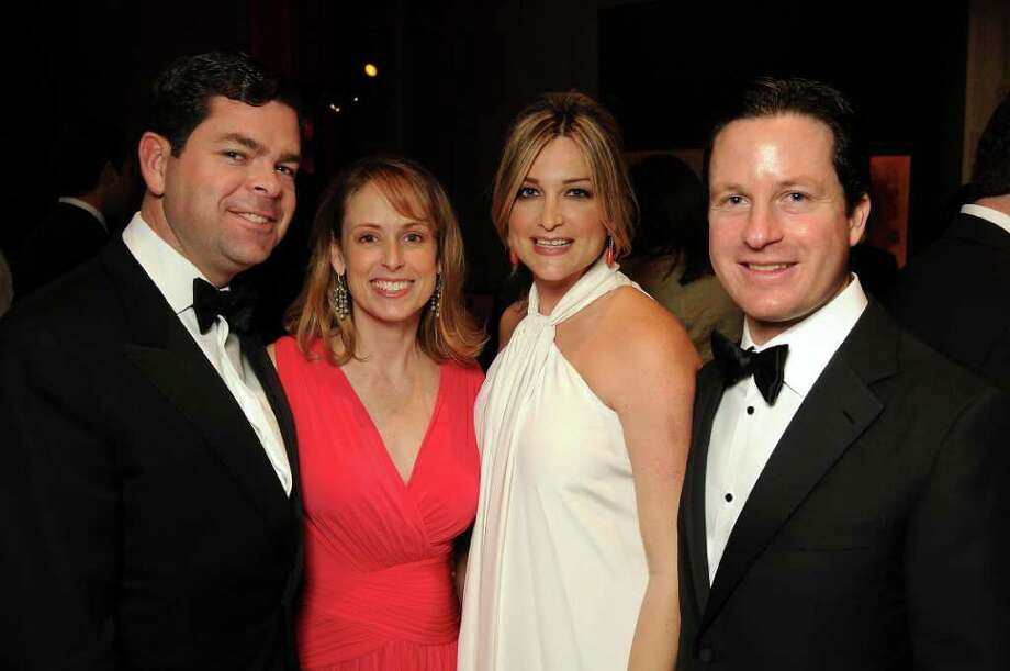 """Our daughter enjoys coming to see the butterflies and looking at all the nature,"" said event co-chair Vanessa Sanchez, pictured with her husband and co-chair Tony Sanchez, right, and co-chairs Dan and Eleanor Gilbane, left, at the Houston Museum of Natural Science's Viva la Vida Gala, Saturday, March 3. Photo: Dave Rossman / © 2012 Dave Rossman"