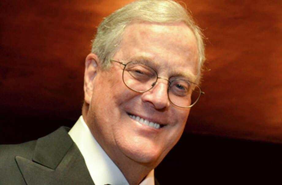 David Koch is worth an estimated $36 billion, according to Forbes. Photo: Amanda Gordon, Bloomberg