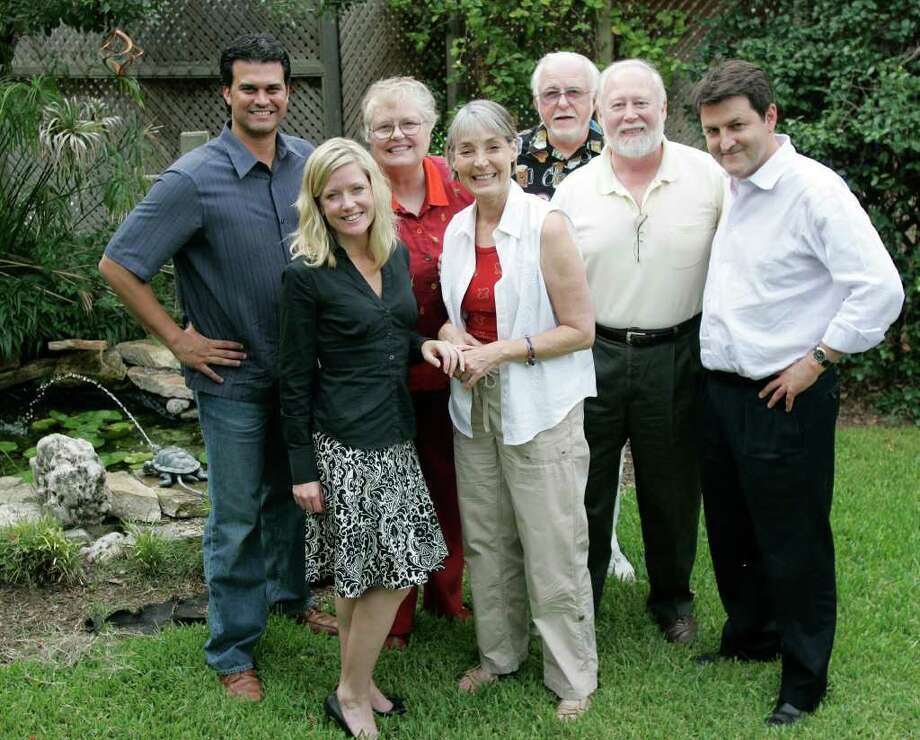 SA LIFE; CLASSIC THEATER JMS; 06/30/08;  The founding members of Classic Theater are, from the left, Tony Ciaravino, Asia Ciaravino, Diane Malone, Teri Ross, Rick Malone, Allan Ross, and Chris Cheever, shown Monday, June 30, 2008, in San Antonio. ( Photo by J. Michael Short / Special ) Photo: J. MICHAEL SHORT, SPECIAL TO THE EXPRESS-NEWS / THE SAN ANTONIO EXPRESS-NEWS