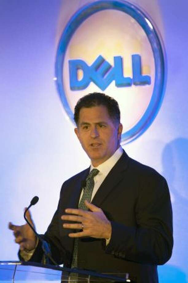 Dell, 48, is worth an estimated $15.9 billion. He made his money on his computer company. Dell is a Houston native who now resides in Austin. (Ed Lallo / Bloomberg)Source: Forbes