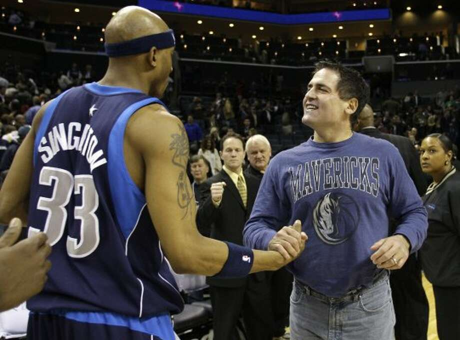 Cuban, 55, is worth $2.5 billion, and he is best known for being the owner of the Dallas Mavericks. He isn't from Houston, but he is a NBA World Champion. (Chuck Burton / AP)Source: Forbes