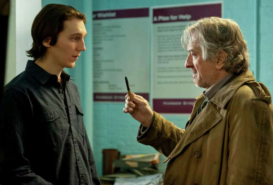 "Paul Dano (L) stars as ""Nick Flynn"" and Robert De Niro (R) stars as ""Jonathan FLynn"" in Paul Weitz's BEING FLYNN, a Focus Features release. Photo: David Lee, Focus Features / 2012 Focus Features"