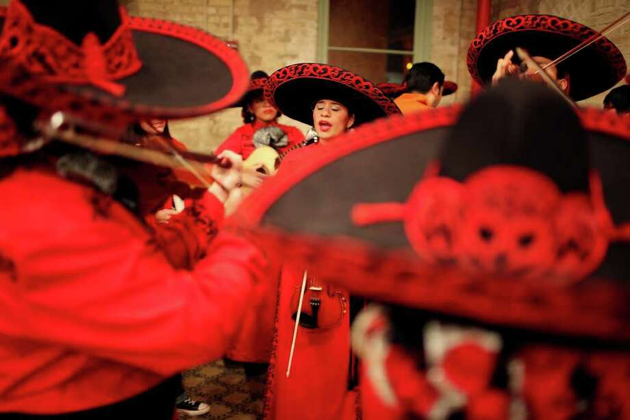 ...mariachis are playing at a party. --A. Sanchez Photo: EDWARD A. ORNELAS, SAN ANTONIO EXPRESS-NEWS / eaornelas@express-news.net