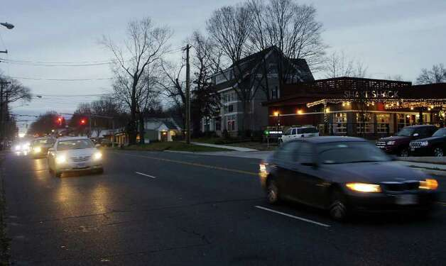 A new study by the Tri-State Transportation Campaign ranks U.S. Route 1, seen here near Westport's town line with Fairfield, as one of the state's most dangerous roads. Photo: Paul Schott / Westport News