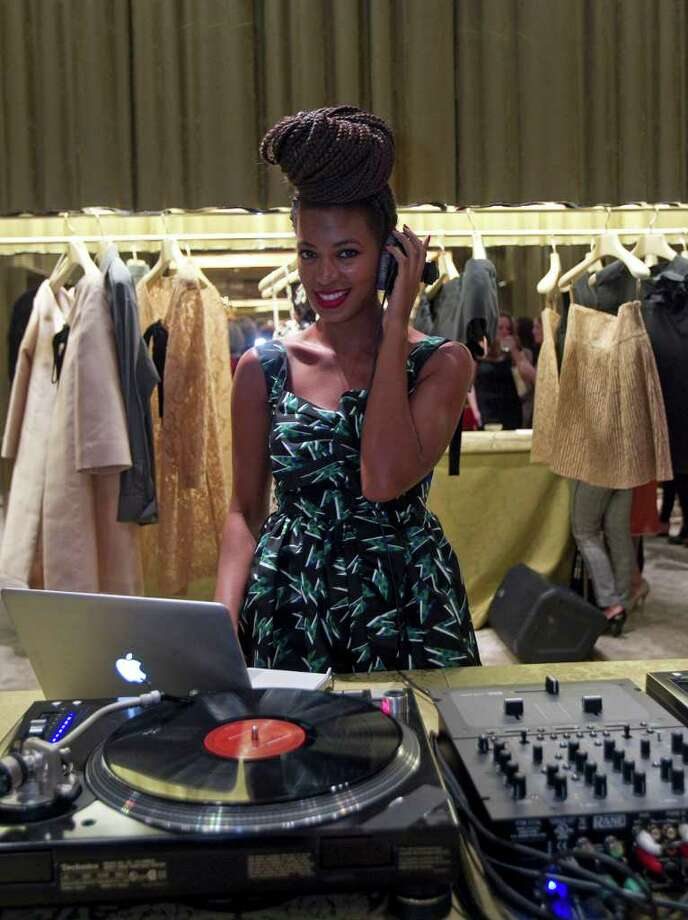 A STYLISH DJ: Solange Knowles was the guest DJ at a recent Houston Ballet party at Miu Miu in the Galleria. Photo: James Nielsen / © 2011 Houston Chronicle
