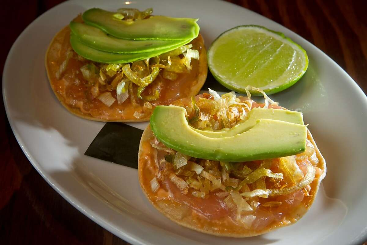 The Albacore Tuna Tostadas at Tacolicious in San Francisco Calif., is seen on Monday, March 5th, 2012.