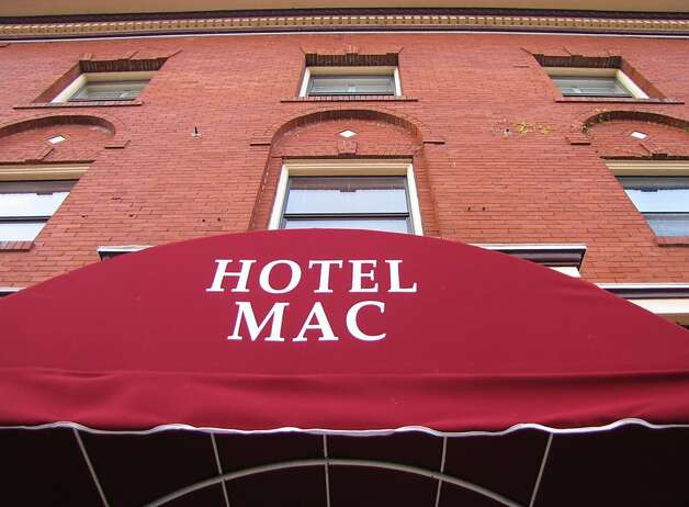 Hotel Mac Restaurant & Bar is housed inside a 3-story, red brick building dating back to 1911. Photo: Stephanie Wright Hession
