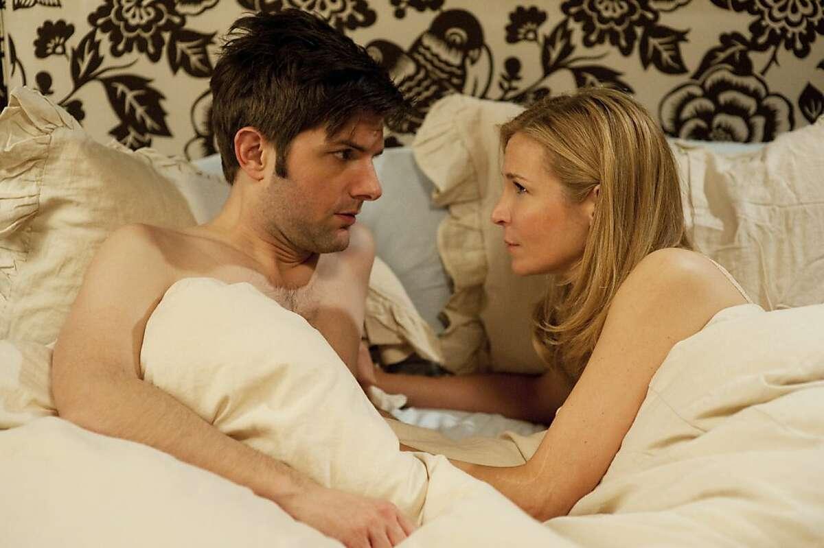 "Adam Scott, left, and Jennifer Westfeldt star in ""Friends with Kids,"" written and directed by Jennifer Westfeldt. (Courtesy JoJo Whilden/MCT)"