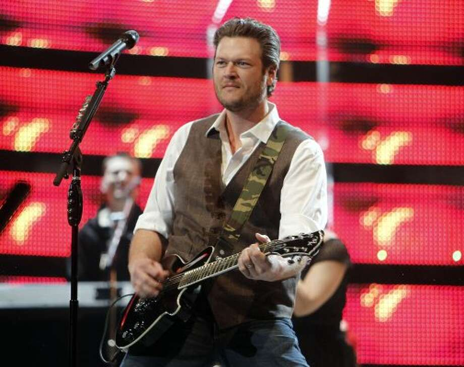 "Blake Shelton is used to entertaining as a judge on ""The Voice."" Shelton can win Entertainer of the Year and three other awards."