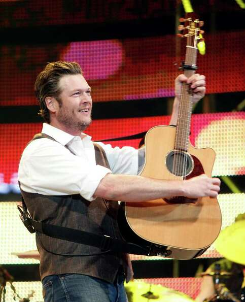 Blake Shelton performs in concert during Houston Livestock Show and Rodeo at Reliant Stadium Wednesd