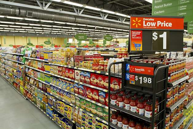 In November, 2011, Walmart opened its first store in the U.S. with 100% LED sales floor lighting. The LEDs in the Wichita, Kan. Neighborhood Market use 40% less energy compared to traditional florescent lights and last 8-9 years. The LED lights are expected to save the Neighborhood Market 140,000 kWh a year in energy use, the equivalent of powering 10 average homes. Photo: Walmart