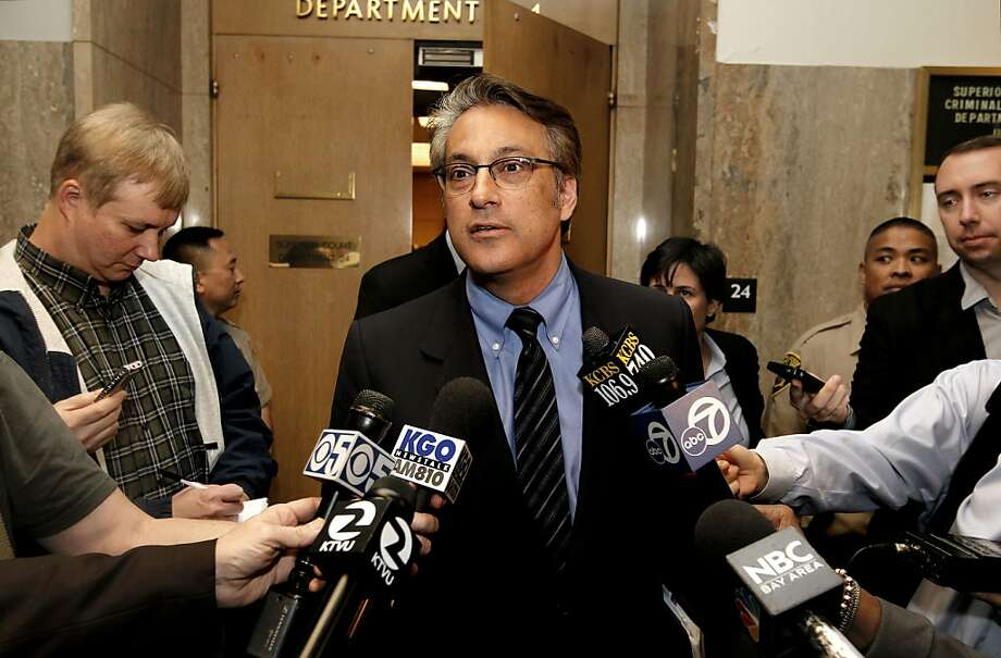 San Francisco Sheriff, Ross Mirkarimi leaving Department 24, stops to speak to the media after making a pre-trial court appearance at the Hall of Justice, San Francisco, Ca., on Wednesday Feb. 22 2012. Photo: Michael Macor, SFC
