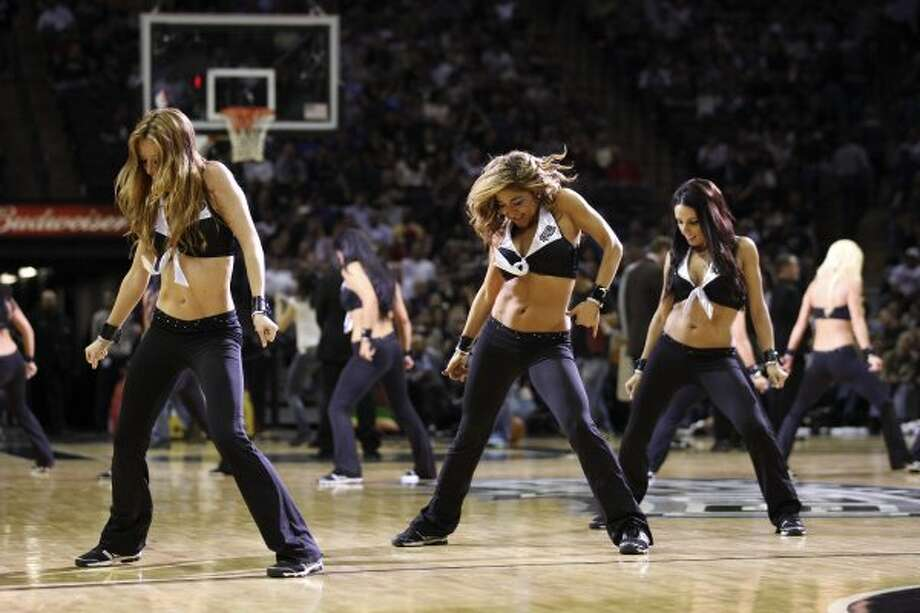 The Spurs Silver Dancers entertain the crowd during the second half against the New York Knicks at the AT&T Center, Wednesday, March 7, 2012. The Spurs won 118-105. Jerry Lara/San Antonio Express-News (Jerry Lara / San Antonio Express-News)