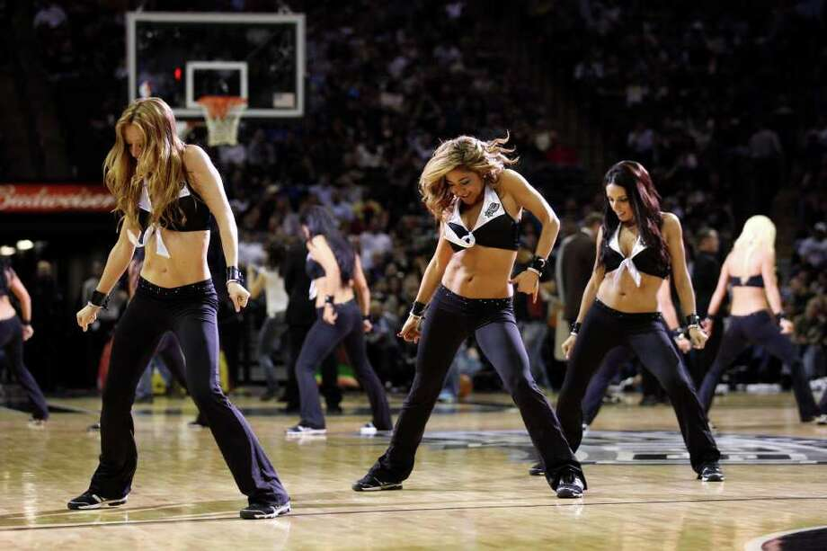 SPURS -- San Antonio Spurs Silver Dancers entertain the crowd during the second half against the New York Knicks at the AT&T Center, Wednesday, March 7, 2012. The Spurs won 118-105. Jerry Lara/San Antonio Express-News Photo: Jerry Lara, San Antonio Express-News / © San Antonio Express-News