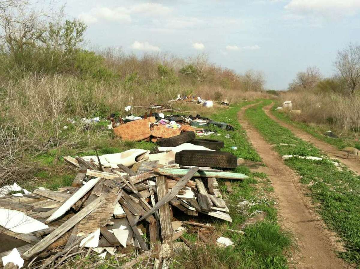 Resident in the Southside say their neighborhoods have become sites for illegal dumping, like this area off of Southton Road.