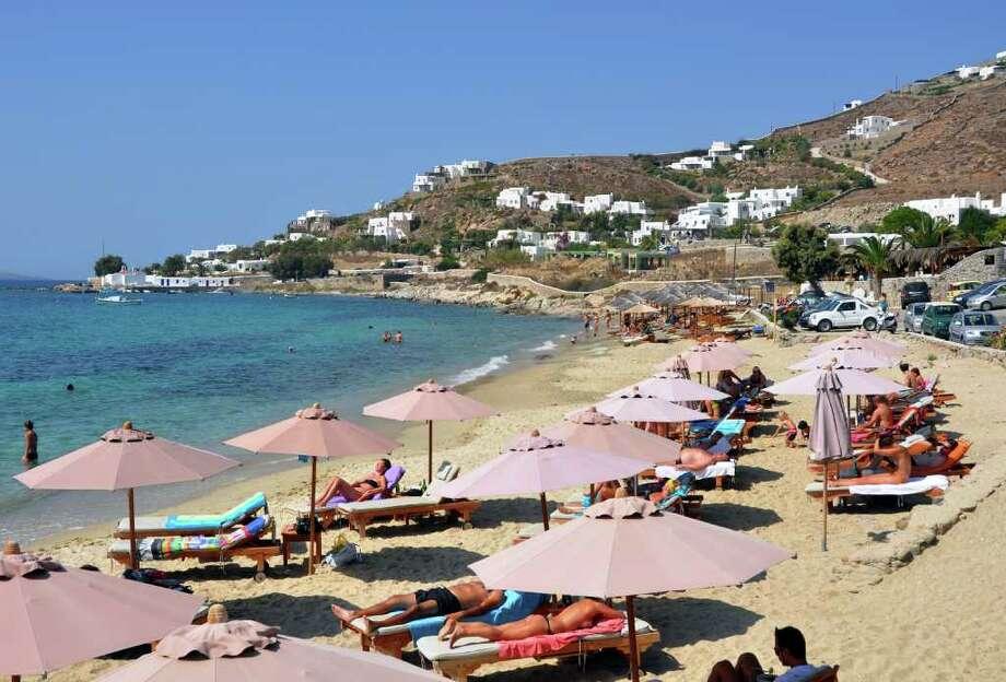 "Unlike some of Mykonos' ""meat-market"" destinations, Agios Ioannis beach is off the tourist radar. Photo: Cameron Hewitt, Ricksteves.com"
