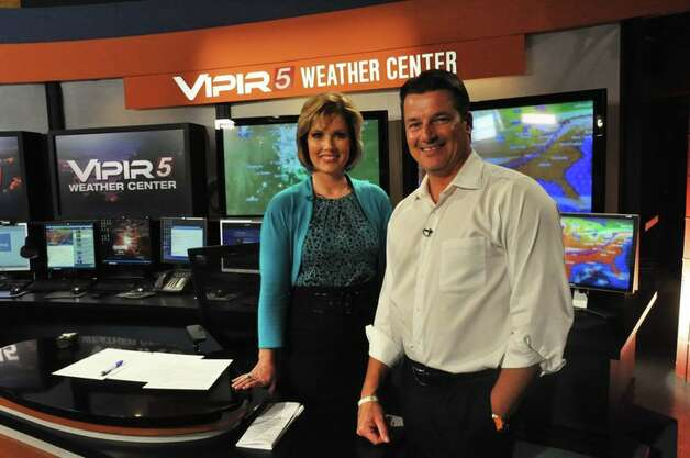 Deborah Knapp, with meteorolgist Bill Taylor, now reigns in San Antonio in the 4 p.m. hour once owned by Oprah Winfrey. Photo: KENS