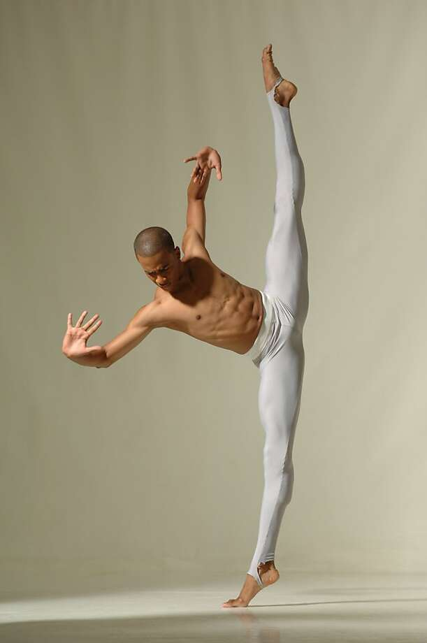 """Alvin Ailey Dance Theater's Yannick Lebrun dances Ailey's """"Streams."""" The company will perform March 13-18 at Cal Performances in Berkeley. [#Beginning of Shooting Data Section] Nikon D2X Focal Length: 50mm Optimize Image:  Color Mode: Mode I (sRGB) Long Exposure NR: Off High ISO NR: Off 2006/08/09 10:32:34.1 Exposure Mode: Manual White Balance: Preset d-0 Tone Comp.: Auto JPEG (8-bit) Fine Metering Mode: Multi-Pattern AF Mode: AF-S Hue Adjustment: 0¡ Image Size: Large (2848 x 4288) 1/125 sec - F/8 Flash Sync Mode: Not Attached Saturation: Normal Exposure Comp.: +0.7 EV Sharpening: Medium high Lens: 18-70mm F/3.5-4.5 G Sensitivity: ISO 200 Auto Flash Comp: 0 EV Image Comment:                                      [#End of Shooting Data Section] Photo: Eduardo Patino"""
