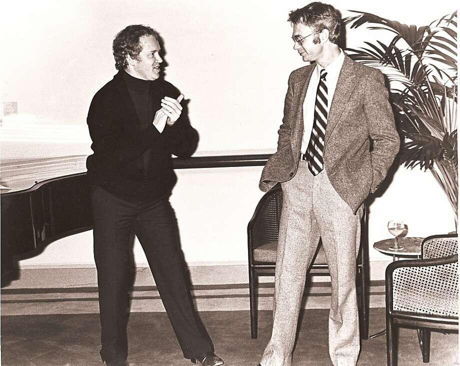 Edo de Waart (l) and John Adams (r) in 1982 Photo: San Francisco Symphony