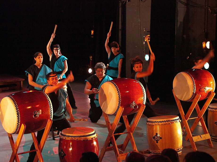 Maikaze Daiko, a San Francisco-based taiko ensemble, hosts the Rhythm & Roots World Percussion Festival March 16-18 at Dance Mission Theater. Photo: Richard Man