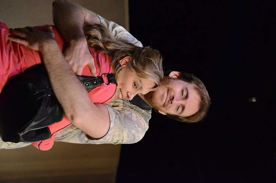 "Eleanor Mason Reinholdt plays the distracted Mama of a 9-year-old with possible Attention Deficit Hyperactivity Disorder in Lisa Loomer's ""Distracted"" at Town Hall Theatre (seen above with Derek Fischer as one of the distracting doctors) Photo: Jay Yamada"