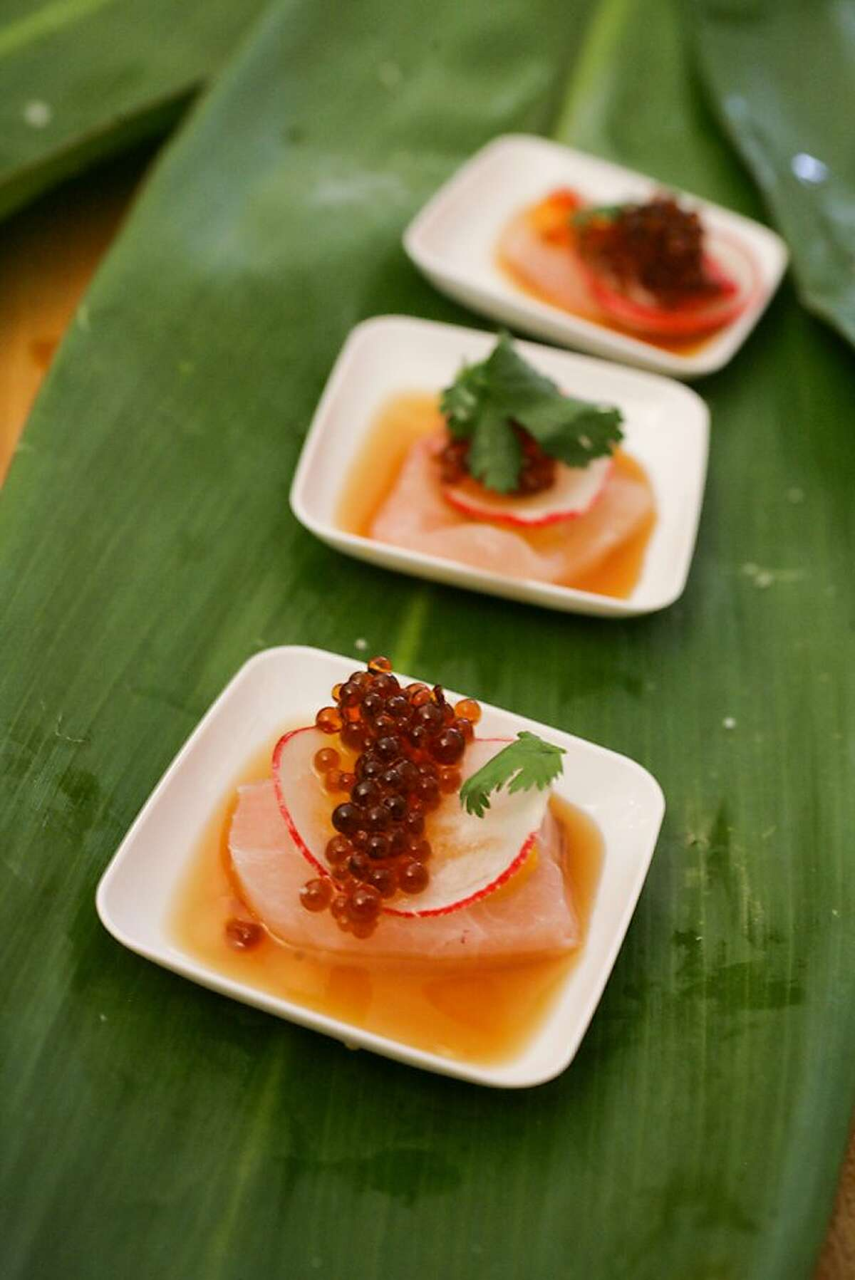 An appetizer served at the Lexus Grand Tasting during the 2011 Pebble Beach Food and Wine Festival.