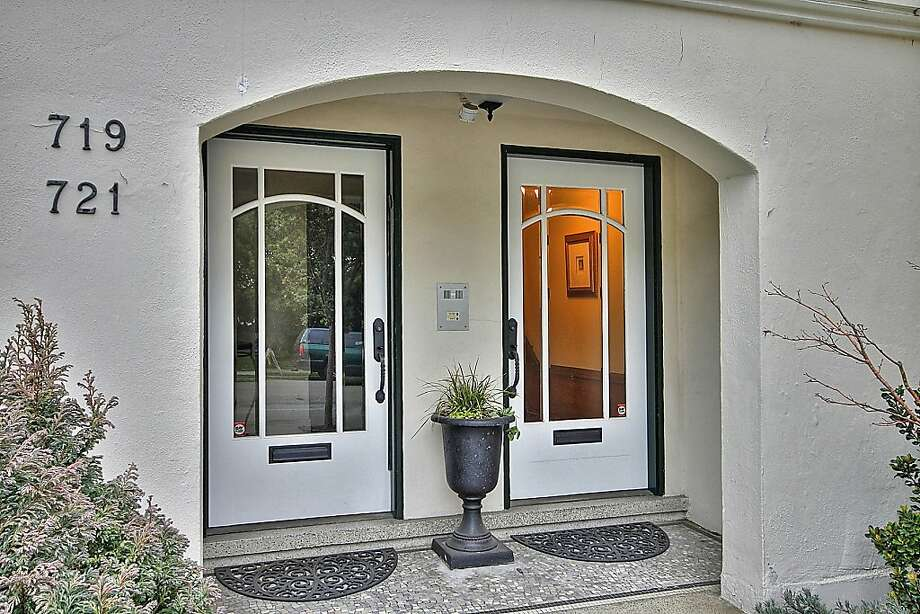 The entrance to the property at 719 14th Ave. in S.F. This top-floor Central Richmond condo shares a building with one other unit. Photo: Ryan Ozubko, Blu Photography