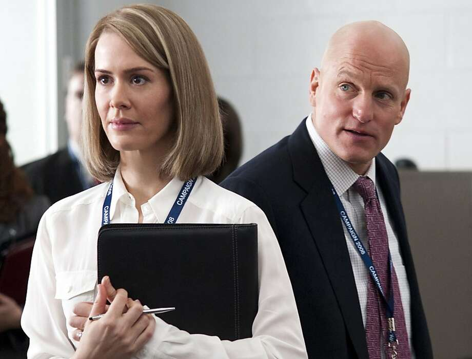 GAME CHANGE: Sarah Paulson, Woody Harrelson. Photo: Phillip V. Caruso, HBO