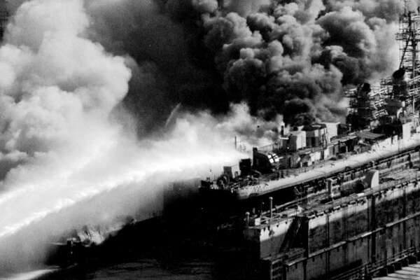 What year was the Todd's Shipyard fire?