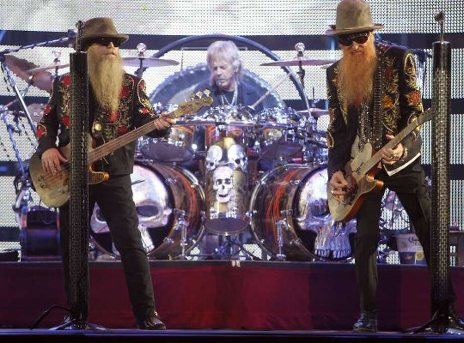 ZZ Top performs at the Houston Livestock Show and Rodeo on March 8. (James Nielsen / Chronicle)