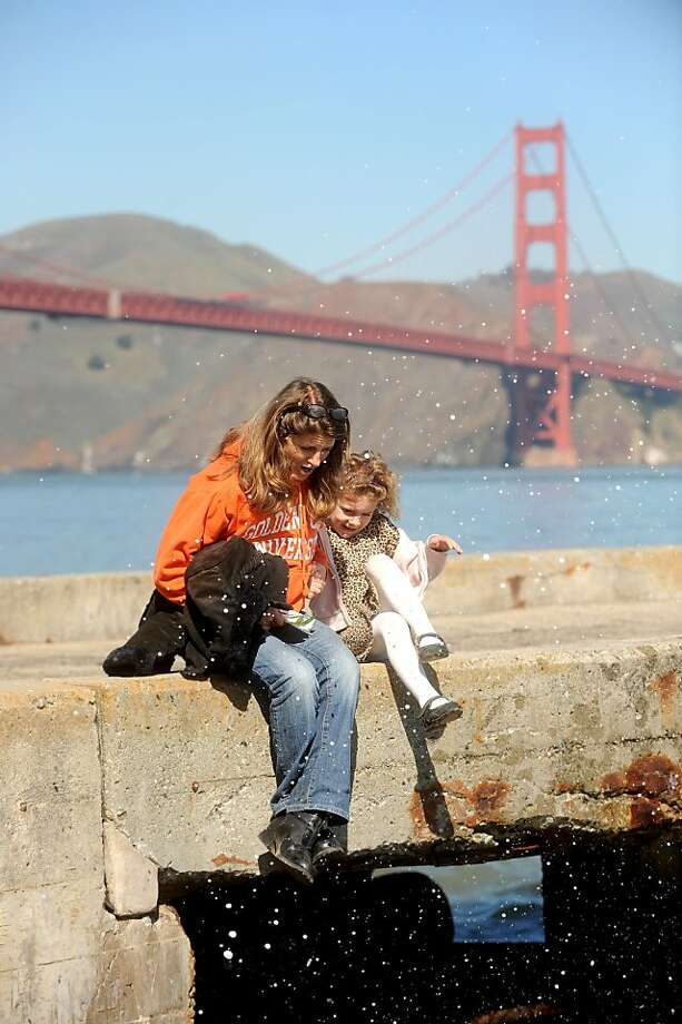 Persefone Neeve, 5, a fourth generation San Franciscan, spends time with her aunt Alexia Marquis at Crissy Field on Thursday, March 8, 2012, in San Francisco. The Board of Supervisors is holding a special committee hearing on family flight and why so many families with young kids are fleeing the city. Photo: Noah Berger, Special To The Chronicle