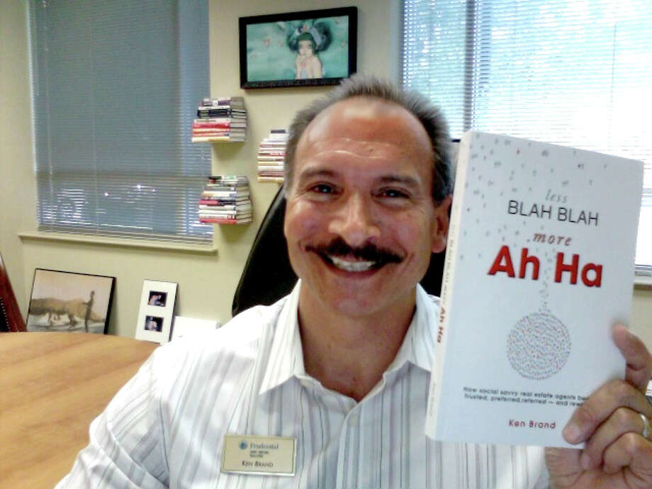 """The Woodlands author Ken Brand with his No. 1 best-online-selling book, """"Less Blah Blah, More Ah Ha."""" Brand wrote the book to help Realtors succeed in a changing home-sales market. (Photo contributed)"""