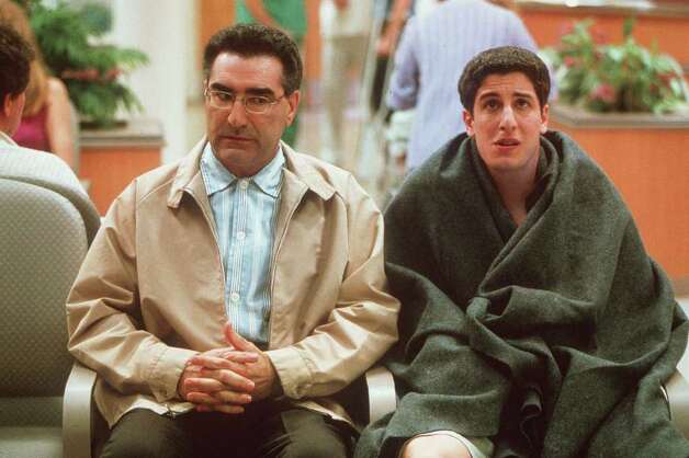 Jason Biggs, right, made Jim Levenstein as... well.. American as apple pie. / AP2001