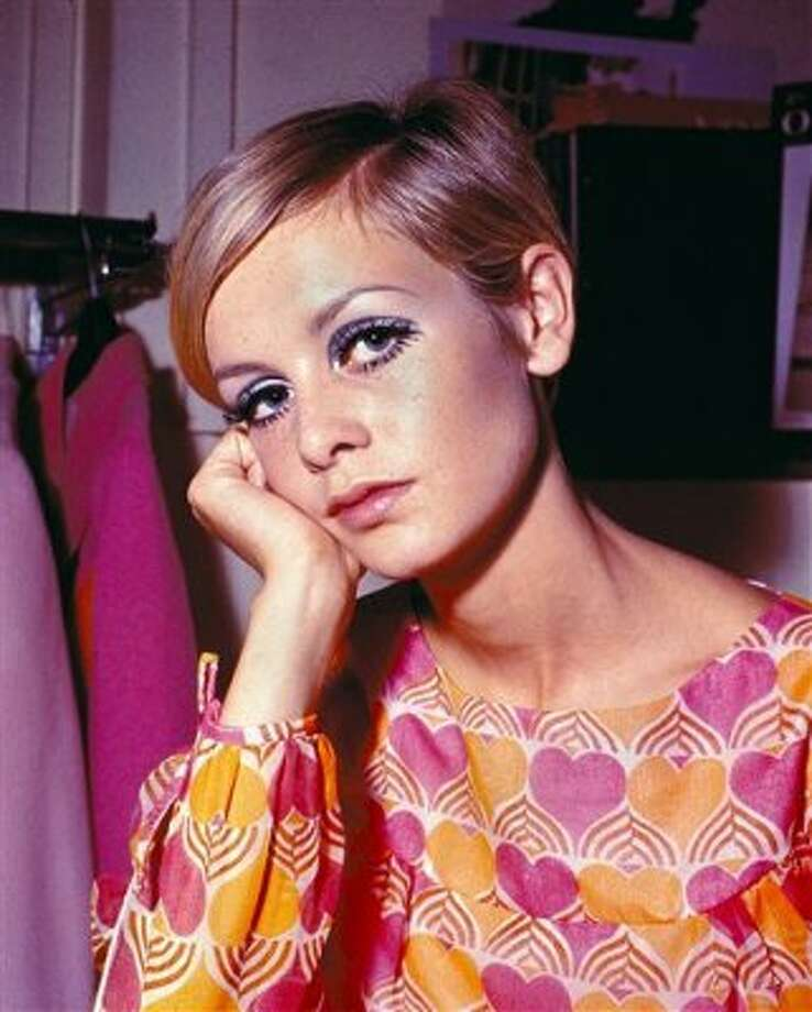 This 1967 file photo shows fashion model Twiggy in her short haircut in London, England. Back in the Mod '60s, Twiggy, with her big eyes and rail-thin figure, conquered London and fashion changed forever. She's about 18 here. (ASSOCIATED PRESS)