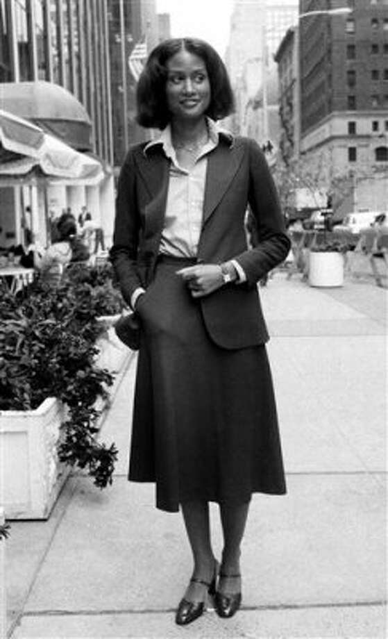In 1974, model Beverly Johnson became the first black model to appear on the cover of American Vogue. Here she is seen 1976, age 23. (Dave Pickoff / ASSOCIATED PRESS)