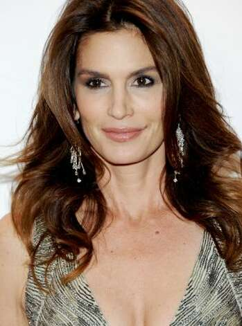 Model Cindy Crawford on Feb. 8, 2012 in New York at age 45. (Evan Agostini / Associated Press)