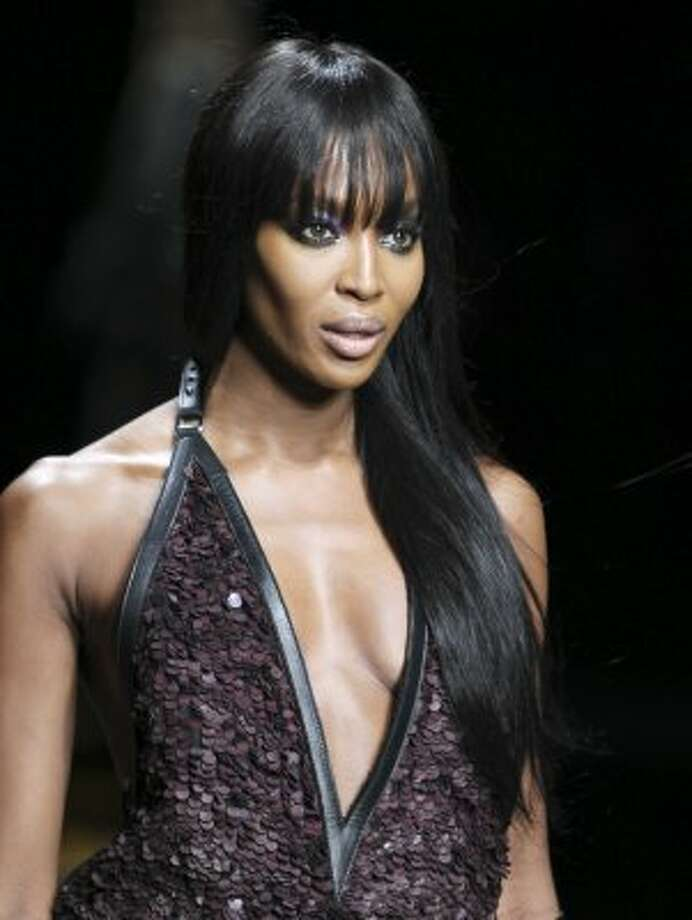 Naomi Campbell in Feb. 2012, age 41. Campbell is still an in-demand model and does charity work, though she's also become famous for her temper, with assault charges being brought by employees and, in one case, the police. (Antonio Calanni / Associated Press)