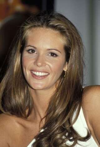 "Supermodel Elle MacPherson in April 1993, age 28. She was referred to as ""The Body"" after her record five appearances on the Sports Illustrated Swimsuit Issue covers.   (Patrick Riviere / Getty Images)"
