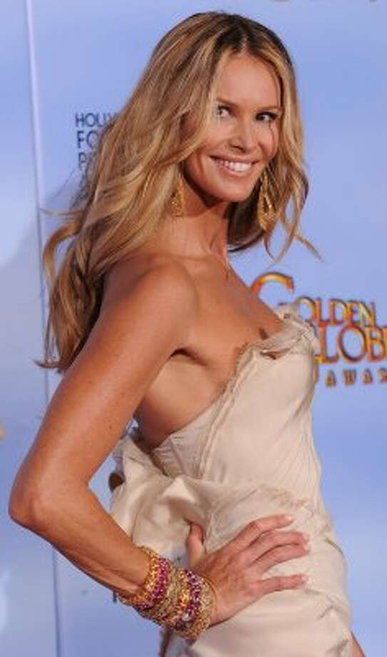 """Elle MacPherson on January 15, 2012, age 47. MacPherson now has a line of lingerie and skin care products, and is one of the hosts and producers of the upcoming NBC show """"Fashion Star."""" (ROBYN BECK / AFP/Getty Images)"""