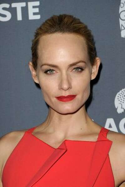 Model/actress Amber Valletta in Feb. 2012, age 38. Valletta now stars on ABC's hit drama