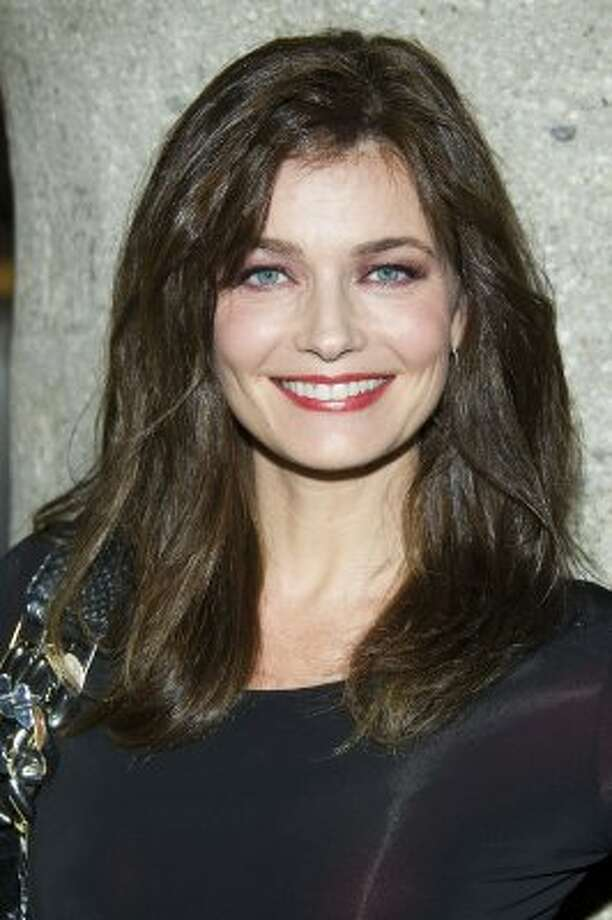 Paulina Porizkova in Feb. 2012, age 46. She's a blogger on Huffington Post, and has been married to Cars' frontman Ric Ocasek since 1989.  (Charles Sykes / ASSOCIATED PRESS)