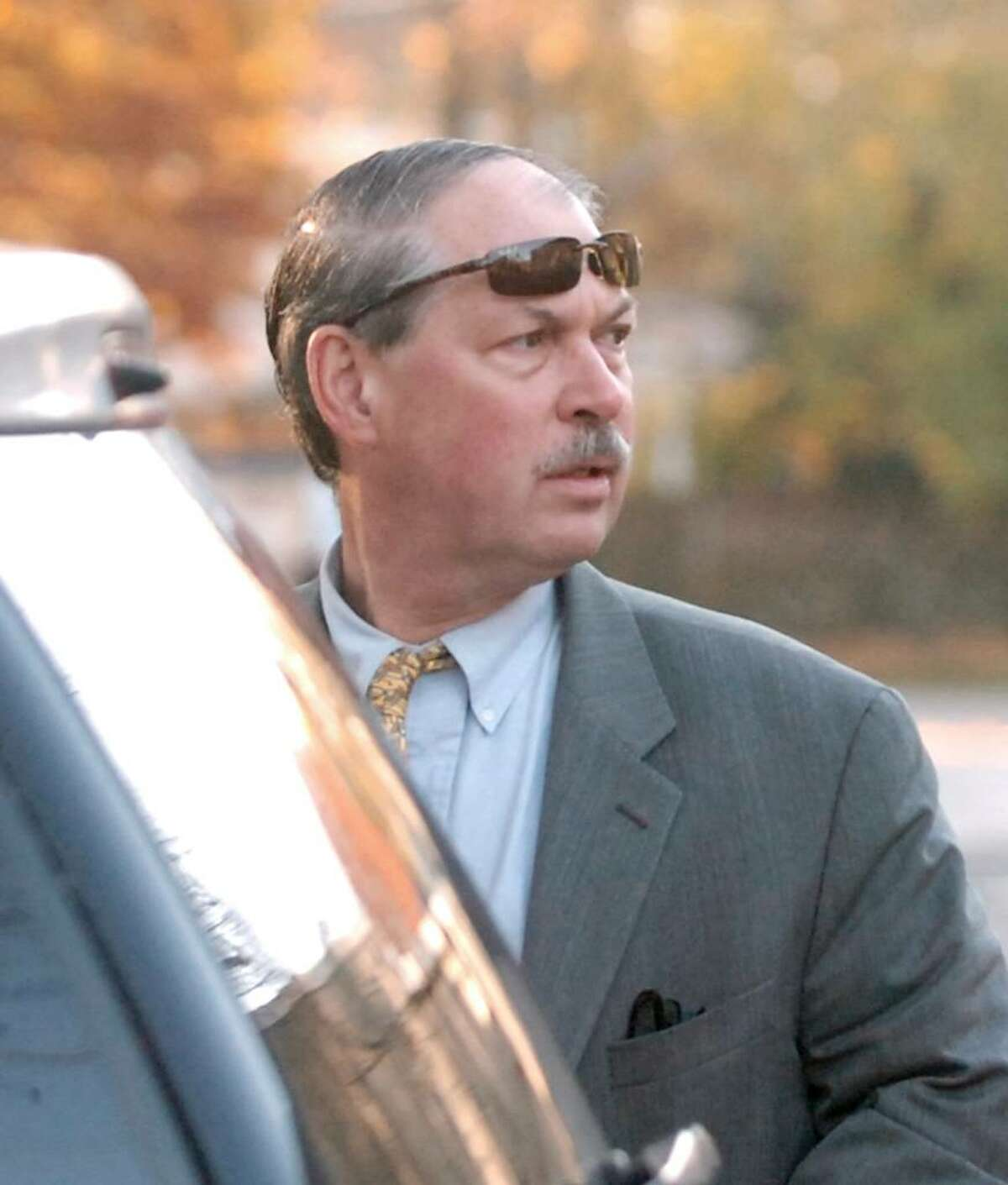 Obstetrician and gynecologist Dr. Ben Ramaley outside his practice at 2600 Post Road in Southport, Connecticut, Monday morning, Nov. 9, 2009.